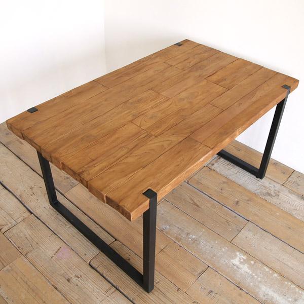 d-Bodhi(ディーボディ)セレベス ダイニングテーブル 古材 アイアン 脚 [ インダストリアルデザイン ヴィンテージ 男前 おしゃれ 西海岸 木製 古材 チーク材 ]【送料無料】【代引不可】【160在庫1あり】