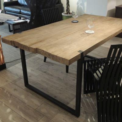 d-Bodhi(ディーボディ)セレベス ダイニングテーブル 160 180 古材 アイアン[ インダストリアルデザイン 木製 古材 チーク材 アイアンフレーム ]【送料無料】【代引不可】【180入荷未定】