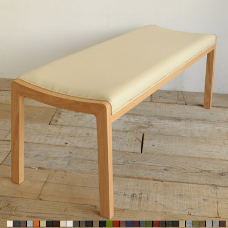 TOPO(トッポ)ダイニングベンチ レッドオーク 無垢ダイニング ベンチ チェア 木製 椅子 日本製 完成品 無垢材 ダイニングチェア ベンチ【受注生産】【送料無料】【幅 120cm 130cm 140cm】※サイズによりお値段が異なります。