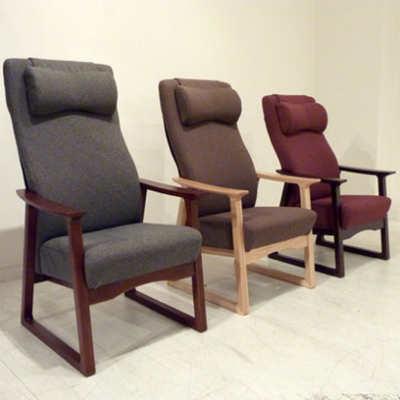 POSA(ポーザ)ハイタイプハイバック アームチェア※サイズ・フレーム・座面色をお選びください。【受注生産】【送料無料】【国産家具】[ チェアー タモ材 イス 椅子 ハイバック 健康椅子 ]