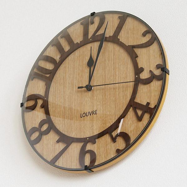 掛け時計 電波時計 おしゃれ 壁掛け時計 ウォールクロック 北欧 Musee-Wood-(ミュゼウッド)【送料無料】