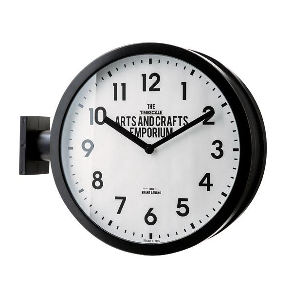 両面時計 ロベストン 壁掛け時計 掛け時計 おしゃれ 北欧 クール モノトーン 掛時計 置時計 両面に文字盤のある特徴的な壁掛け時計【在庫なし次回5月中旬(5)】