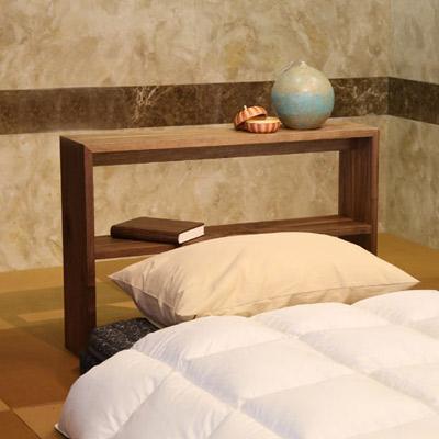 アームテーブル サイドテーブル 木製 無垢材 ウォールナット オークなど 北欧 幅90m【日本製】【送料無料】