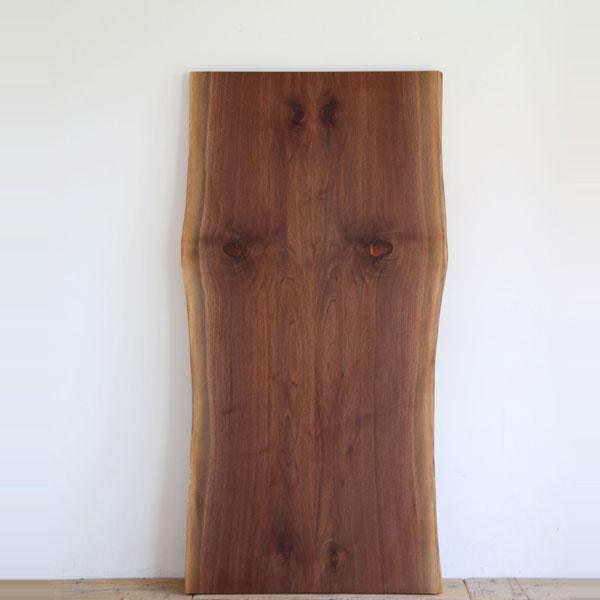 ウォールナット天板 幅190 2枚接ぎ ブックマッチ テーブル ダイニング 天板 無垢 天然木 diy ダイニングテーブル 天板のみ W1900 D80~970