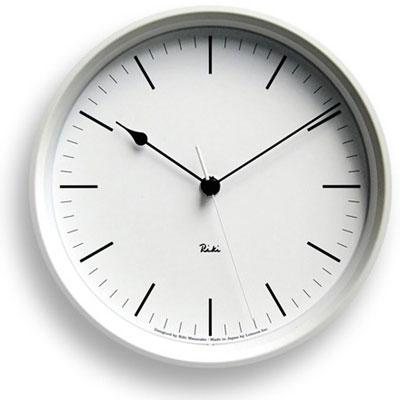 レムノス 電波時計 (棒指標) 掛け時計 RIKI STEEL CLOCK ( リキ スチールクロック )壁掛け時計 掛時計 スイープムーブメント 【送料無料】