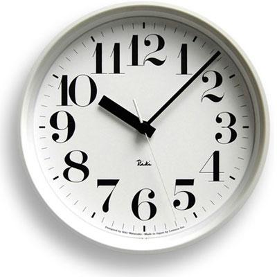 レムノス 電波時計 (数字指標) 掛け時計 RIKI STEEL CLOCK ( リキ スチールクロック ) 壁掛け時計 掛時計 スイープムーブメント ブラック ホワイト 【送料無料】【在庫あり】【あす楽対応】