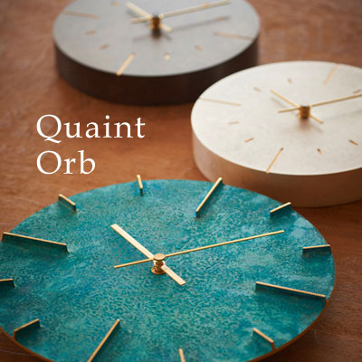 レムノス 掛け時計 Quaint/Orb(クエィント/オーブ)斑紋純銀色/斑紋ガス青銅色/斑紋黒染色【送料無料】※デザインによって値段が変わります。ご注文後、当店より正しい金額をメールにてご案内させていただきます。