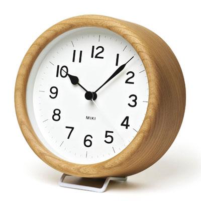 レムノス 置き時計 MIKI(ミキ)ケヤキの時計 置時計 木製 おしゃれ 北欧 アナログ 【送料無料】【あす楽】