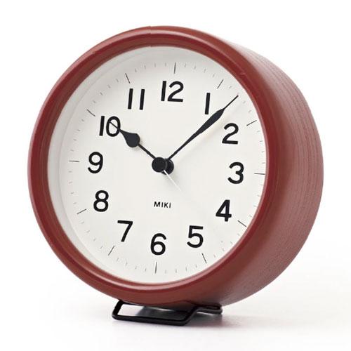 レムノス 置き時計 MIKI URUSHI(ミキ ウルシ)漆の時計 置時計 木製 【送料無料】