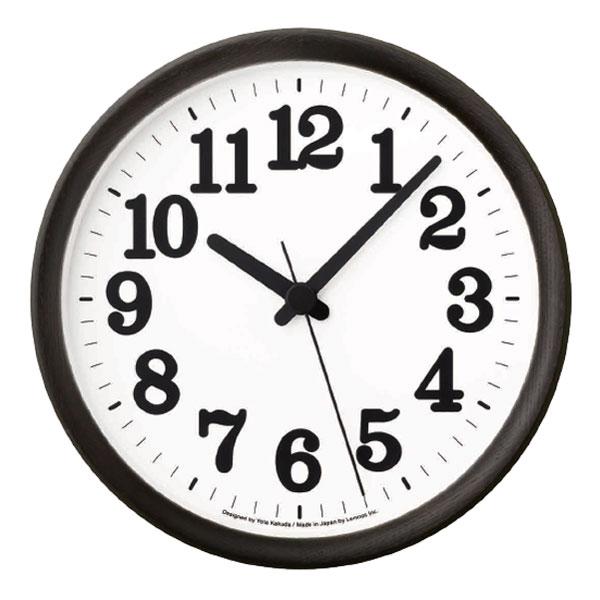 LEMNOS タカタレムノス 角田陽太デザイン 時間を自発的に感じる時計 タモ材 有名な レムノス 爆安 ブラック Clock C 掛け時計 クロックC 送料無料