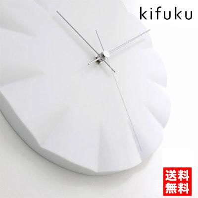 レムノス 掛け時計 おしゃれ kifuku キフク 壁掛け時計 掛時計 ホワイト シンプル 【送料無料】【あす楽】