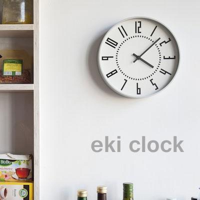 限定版 レムノス 掛け時計 eki clock(エキ クロック)ホワイト レムノス ブラック eki clock(エキ【送料無料】, HAPPYCRAFT:ce23f32c --- canoncity.azurewebsites.net