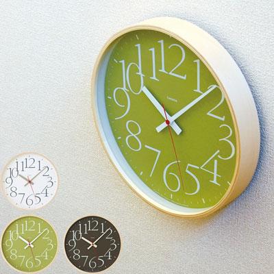 LEMNOS 激安挑戦中 タカタレムノス 見やすく優雅で洗練された書体 ギャラモンを用いた時計 レムノス 電波時計 掛け時計 AY clock グリーン ブラウン 送料無料 エーワイ クロック 倉 RC アールシーホワイト