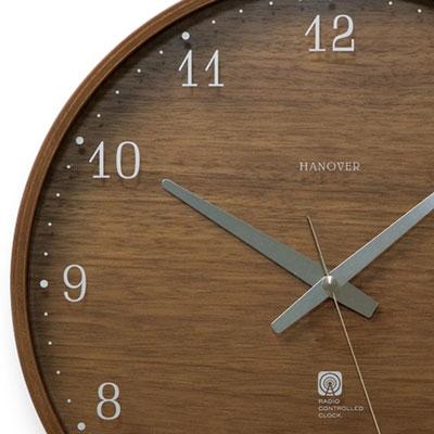 LEMNOS タカタレムノス ラッピング無料 文字盤にウォールナットを贅沢に使用 レムノス 電波時計 掛け時計 ウォールナット Brownie ブラウニー 爆買い送料無料 送料無料 エルブラウン L