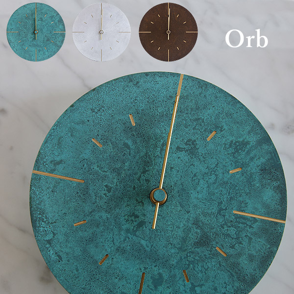 レムノス 掛け時計 Orb(オーブ)直径25cm斑紋純銀色/斑紋ガス青銅色/斑紋黒染色【送料無料】