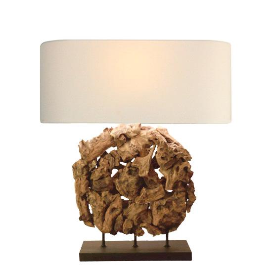 LUXTREE Earth sculpture テーブルランプ テーブルライト デスクライト【送料無料】[ 天然素材 自然素材 流木 照明 ]【在庫要確認・メーカー在庫限り】