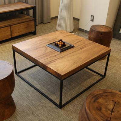 Senso Vita センターテーブル ZEDA ローテーブル コーヒーテーブル リビングテーブル [ 無垢 アイアン 木製 無垢材 ]【送料無料】【数量限定】【在庫あり】