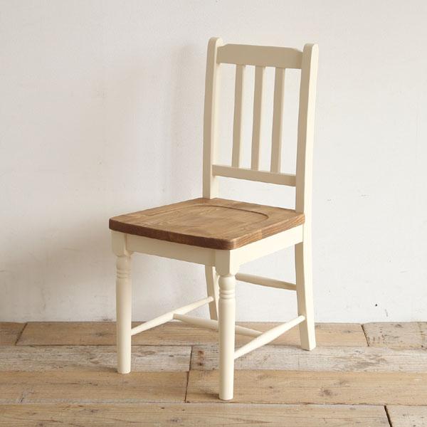 mam(マム) フィンネル ダイニングチェア 白 椅子 パイン材 カントリー シンプル ナチュラル【送料無料】