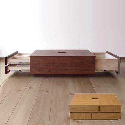 アトリ センターテーブル 幅80 収納 ローテーブル 引き出し付き 正方形[ ローテーブル コーヒーテーブル リビングテーブル ]【送料無料】【直送のため代引不可】