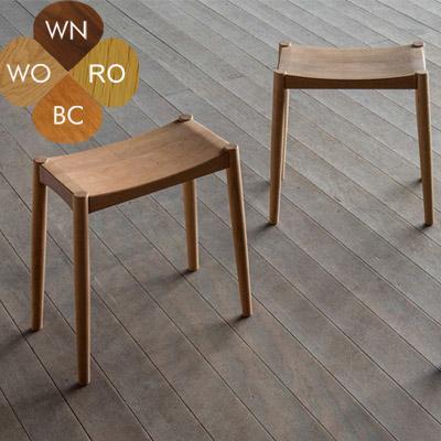 シキファニチア ロック スツール 木製 無垢 ウォールナット オーク 北欧 椅子 板座 ダイニングスツール 【国産家具】【送料無料】【受注生産】【代引不可】※材により価格が変わります。※ご注文後 当店より正しい金額メールします。