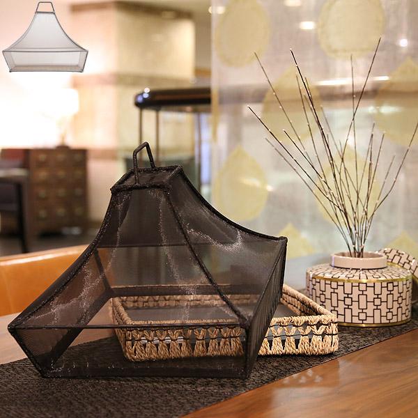 フードカバー 食卓カバー キッチンパラソル 正方形 傘状 蠅入らず 食卓蚊帳 蝿帳 アウトドア 食卓覆い 虫よけ ホコリよけ