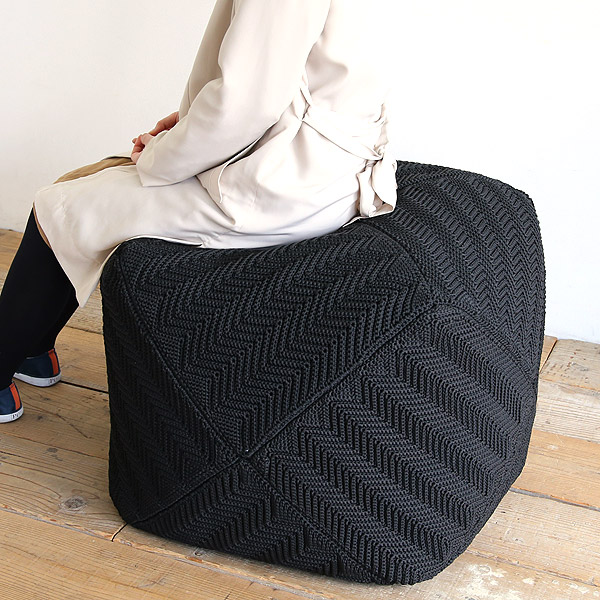 スクエア パフ クッション 椅子 大きい おしゃれ 座れる アウトドア対応 1人掛け ソファ オットマン 一人掛け スツール 1P カバーリング 【送料無料】