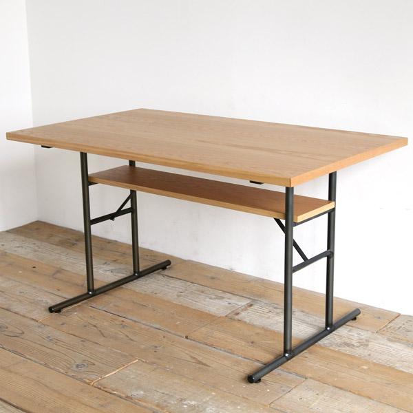 ボルロ LD ダイニングテーブル 低め 120 高さ65 ホワイトオーク アイアン リビングダイニングテーブル ダイニングソファー テーブル 【送料無料】【在庫1あり】