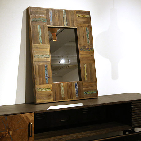 d-Bodhi(ディーボディ) ミラーS 鏡 姿見 ヴィンテージ インダストリアルデザイン おしゃれ リサイクル資材【送料無料】【在庫あり】【あす楽対応】