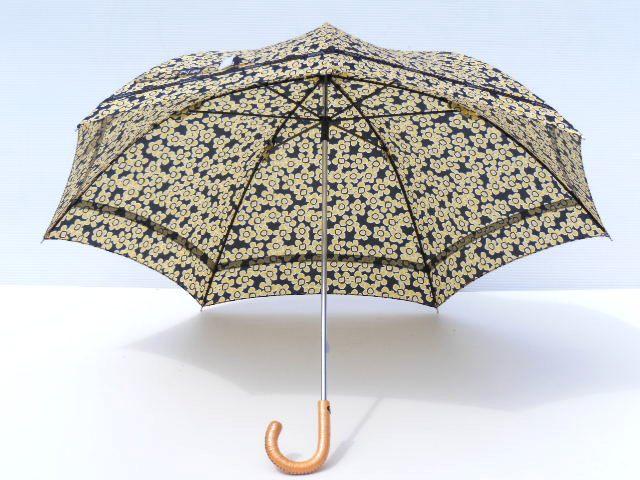 送料無料 晴雨兼用日傘 登場大人気アイテム 春の新作シューズ満載 UV加工 リボンテープ晴兼ショート傘50cm イエロー