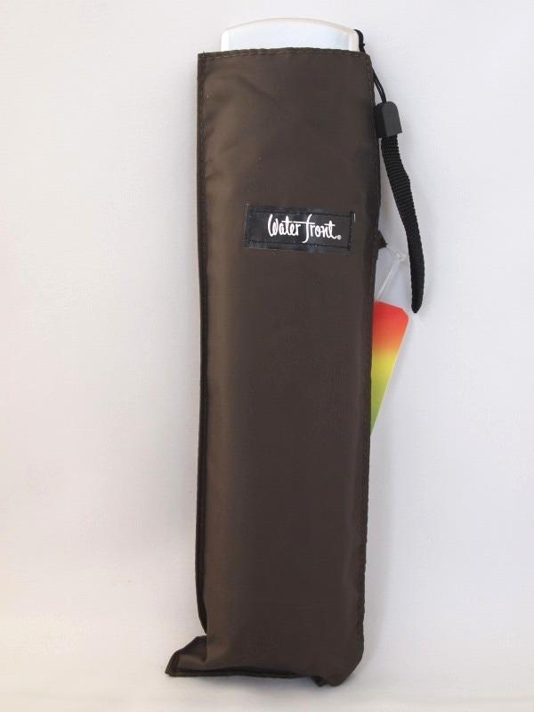 メール便で送料無料 1000円ポッキリ 早割クーポン ランキングTOP10 薄型軽量折り畳み傘 無地 ポケフラット ブラウン