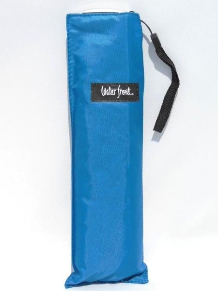 メール便で送料無料 驚きの値段で 1000円ポッキリ 薄型軽量折り畳み傘 無地 ブルー 価格 交渉 送料無料 ポケフラット