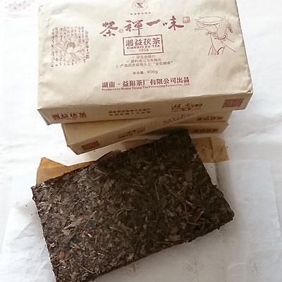 茶禅一味湖益 茯茶(フーチャ) 1枚900g中国茶 黒茶 茶葉 方茶極品黒茶 湖南省産中国茶・台湾茶専門店マルメロ送料無料