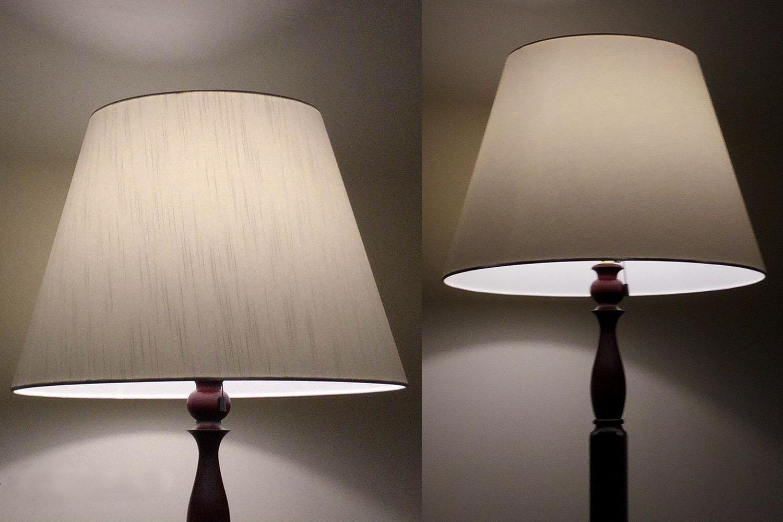 ランプシェード フロアスタンド交換用 アーム式 直径50cm アルベルゴ ビニールコーティング加工 送料無料  照明 シェードのみ