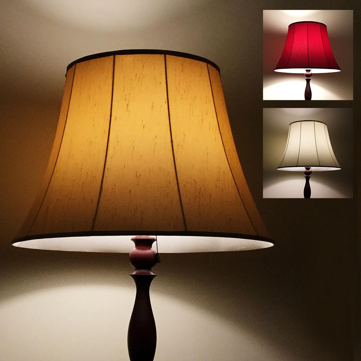 フロアスタンド交換用ランプシェード アーム式 直径50cm バックサテン 全3色 送料無料 照明 シェードのみ