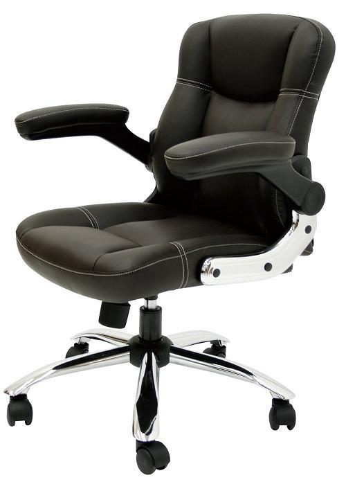 学習椅子 オフィスチェア 肘上げ式オフィスチェア コンパクトサイズチェア(モカブラック)ヤマソロ 42-557 送料無料 (沖縄・北海道・離島除く)