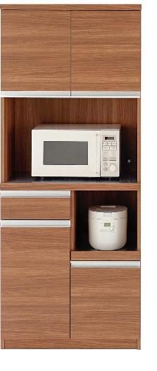 完成品 日本製 開梱設置無料 キッチンボード ジャストシリーズ 食器棚 ウォールナット DKD-73T W73.2×D44.8×H180cm