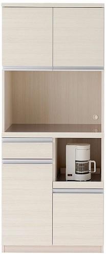 完成品 日本製 開梱設置無料 キッチンボード ジャストシリーズ 食器棚 ホワイトウッド  DKS-73T W73.2×D44.8×H180cm