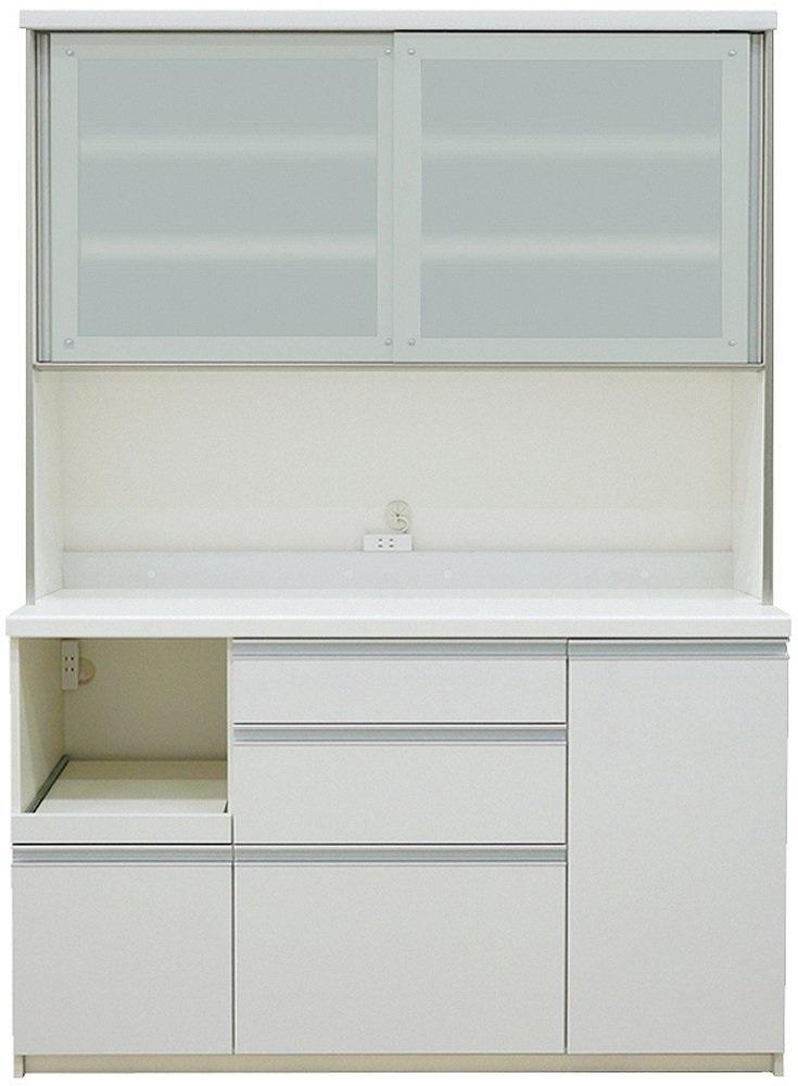 キッチンボード レンジボード パモウナ 完成品 QF-S1400R プレーンホワイト  開梱設置・送料無料(関東圏)