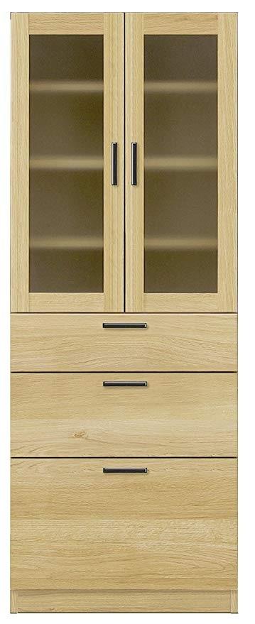 食器戸棚 キッチンボード 収納家具 完成品 ベーグル 60食器棚 開梱設置・送料無料(関東圏)