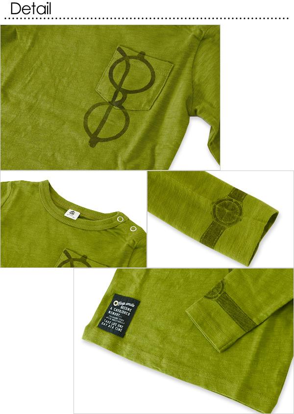 湊合着使用JEANS-b繪畫長袖子T恤■370205■4015770