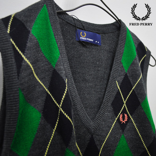 FRED PERRY argyle knit best ■ F7053 ■ 2001092