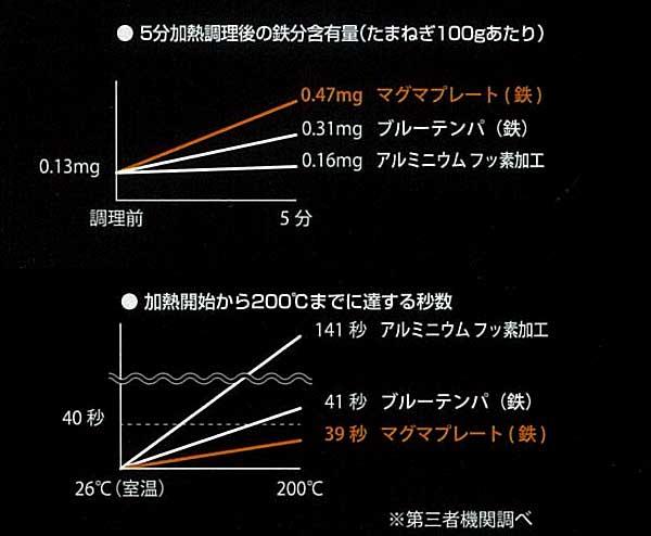 日本製 匠 鉄製 グリルパン16cm ガス火・IH対応 マグマプレート 鉄フライパン タクミ ジャパン TAKUMI JAPAN MAGUMA PLATE