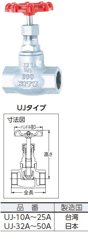 キッツ グローブ(10K)【UJ50A】 販売単位:1個(入り数:-)JAN[4981209350966](キッツ バルブ) (株)キッツ【05P03Dec16】