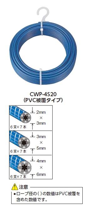 TRUSCO メッキ付ワイヤロープ PVC被覆タイプ Φ2(3)mmX200m【CWP2S200】 販売単位:1本(入り数:-)JAN[4989999336542](TRUSCO ワイヤロープ) トラスコ中山(株)【05P03Dec16】