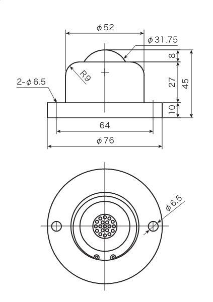 ATEC プレインベア PV-FH・PVS-Fシリーズ ゴミ排出フランジタイプ【PV160FH】 販売単位:1個(入り数:-)JAN[-] (上向きプレインベア) (株)エイテック【05P03Dec16】
