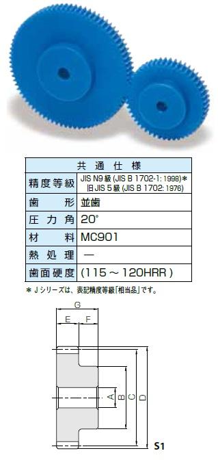 KHK プラスチック平歯車PSシリーズ モジュール1.5【PS1.5-100】販売単位:1個 JAN[-](KHK 歯車)小原工業(株)【05P03Dec16】
