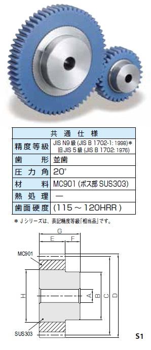 KHK 融着平歯車PUシリーズ モジュール1.5【PU1.5-50】販売単位:1個 JAN[-](KHK 歯車)小原工業(株)【05P03Dec16】