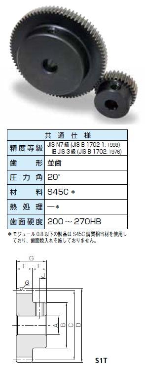 KHK 歯研平歯車SSGシリーズ モジュール0.5【SSG0.5-80A】販売単位:1個 JAN[-](KHK 歯車)小原工業(株)【05P03Dec16】