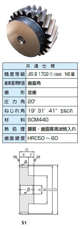 KHK 歯研はすば歯車ZSTPシリーズ モジュール4【ZSTP4-24L】販売単位:1個 JAN[-](KHK 歯車)小原工業(株)【05P03Dec16】
