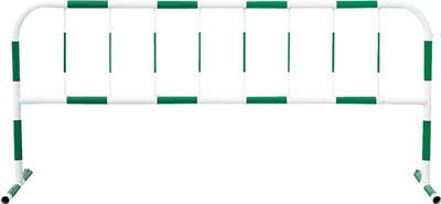 トーグ カラーパイプバリケード緑反射白【CB3】 販売単位:1台(入り数:-)JAN[4571296724681](トーグ 工事用フェンス) トーグ安全工業(株)【05P03Dec16】